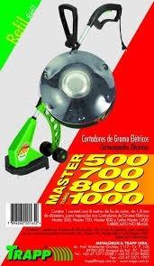 aparador de grama master 800 850 watts c/ 2 carreteis 220v