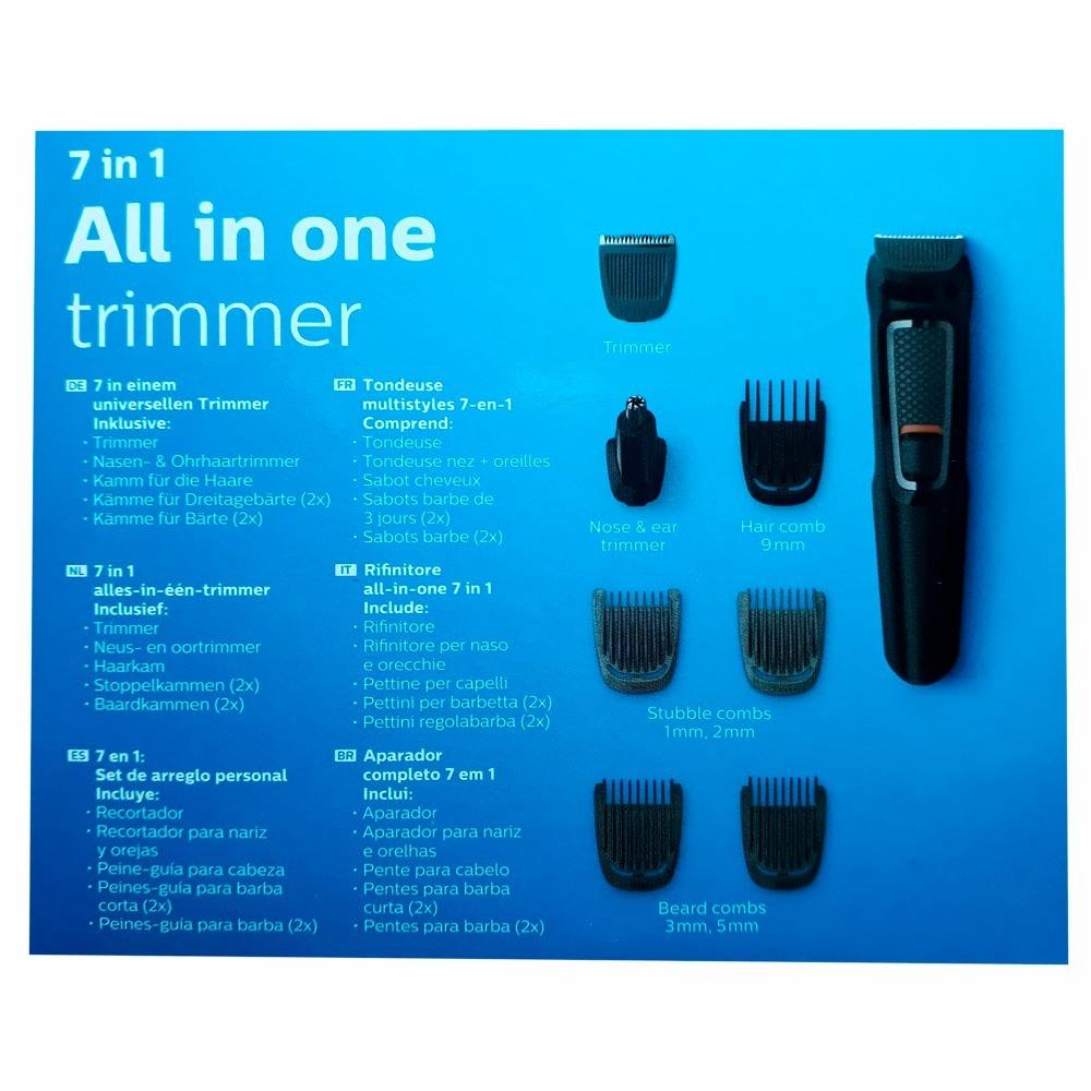 Aparador De Pelos Philips Barbeador Kit Multigroom Novidade R d3e406c570bb