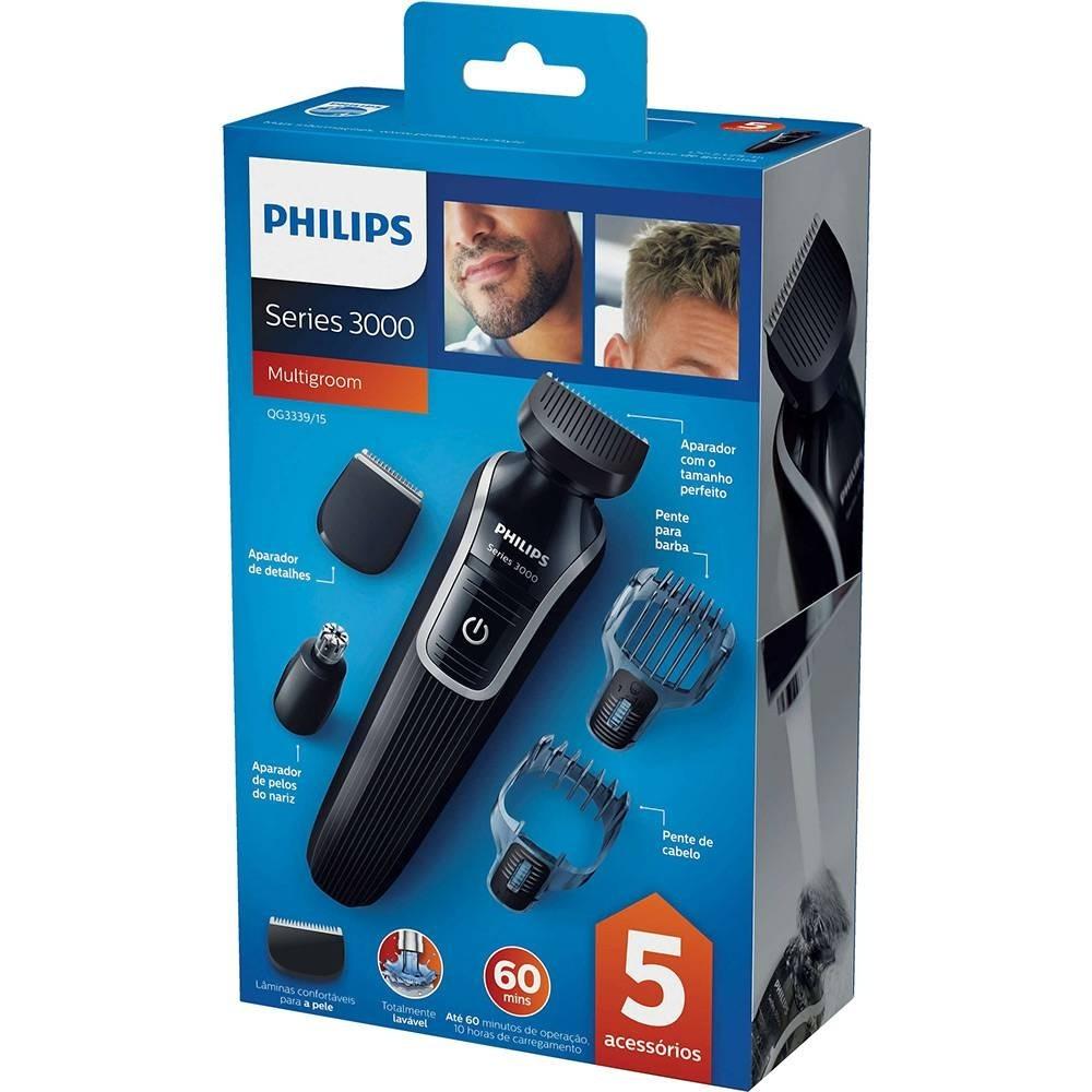 fd26bd4cf Aparador De Pelos Philips Multigroom Series 3000 - Qg3339/15 - R ...