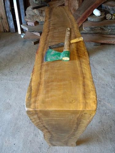 aparador de tronco rustico