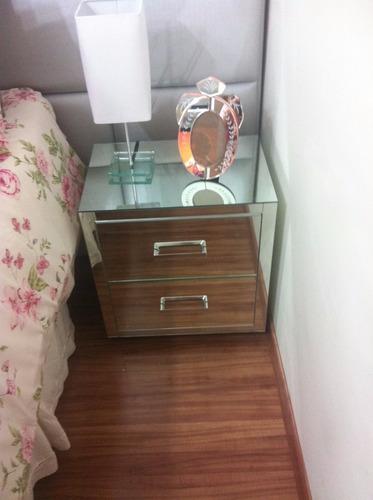 Artesanato De Croche Em Barbante ~ Aparador Espelhado E Criado Espelhado Lapidado R$ 1 486,00 em Mercado Livre