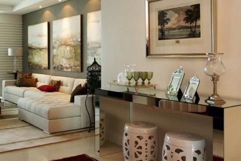 Aparador espelhado frete gr tis para sp capital r 650 for Crear una sala de estar rectangular