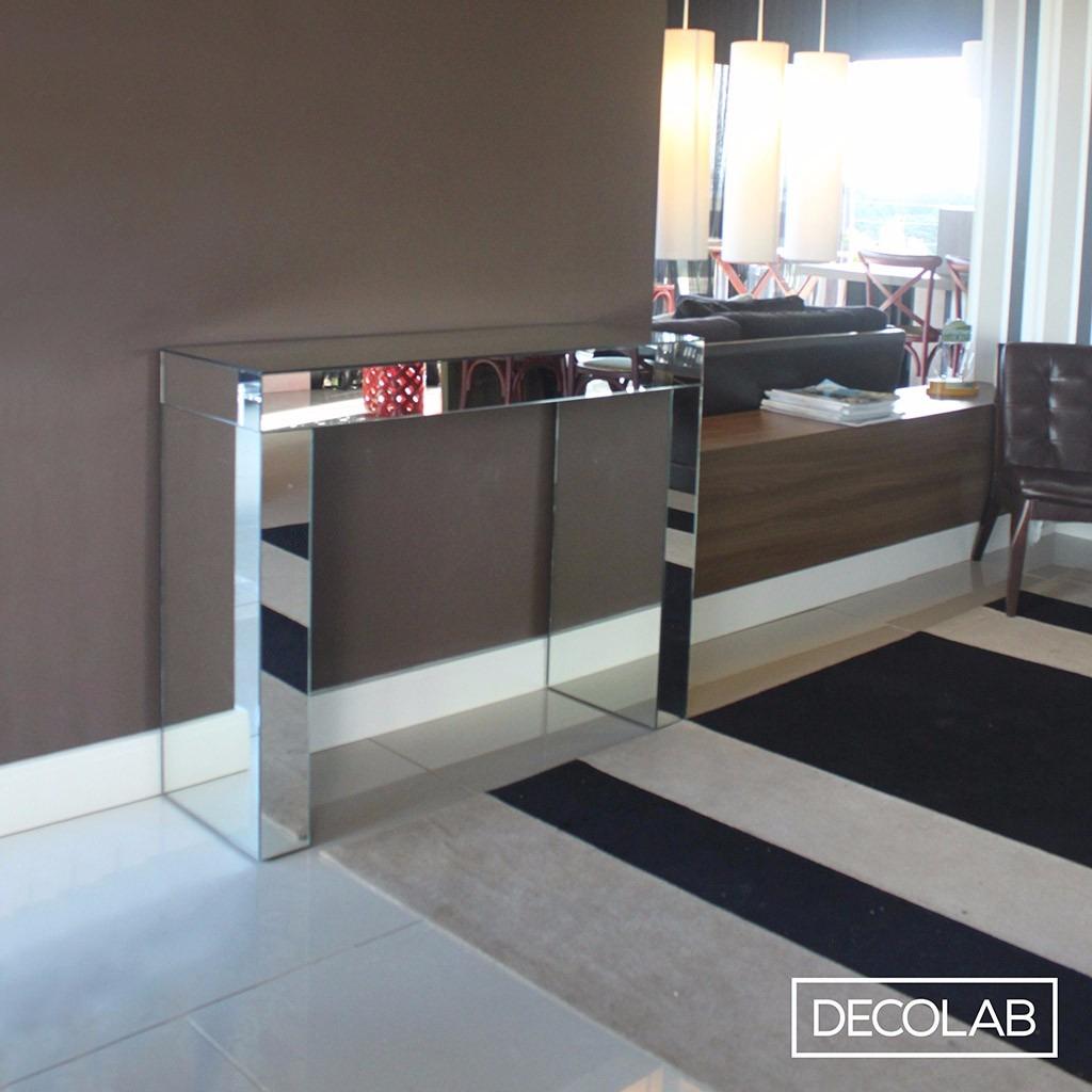 Artesanato Vidro De Azeite ~ Aparador Espelho Prata Lapidado 110x85x35 R$ 849,00 em