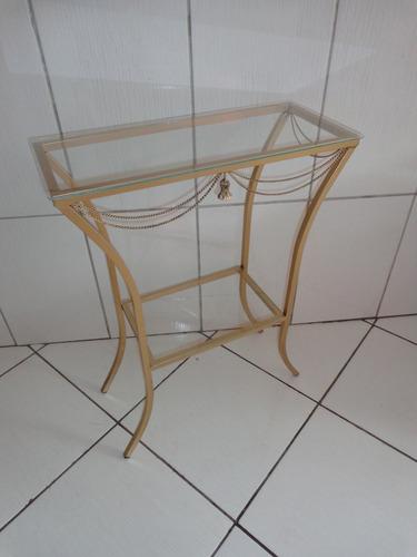 Artesanato Argila Passo A Passo ~ Aparador Ferro Prateleira Com Vidro 60x25cm Detalhe Pingente R$ 94,90 em Mercado Livre