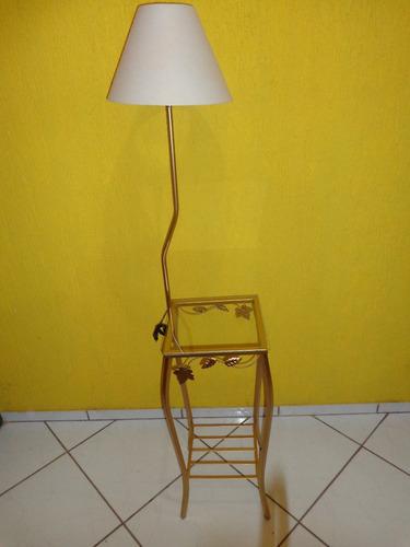 Aparador Barato Vintage ~ Aparador Ferro Quadrado 30cm Largura Com Abajur cupula vidro R$ 139,90 em Mercado Livre