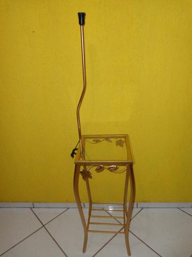 Artesanato Argila Passo A Passo ~ Aparador Ferro Quadrado Abajur Sem Cupula vidro Frete Gratis R$ 114,00 em Mercado Livre