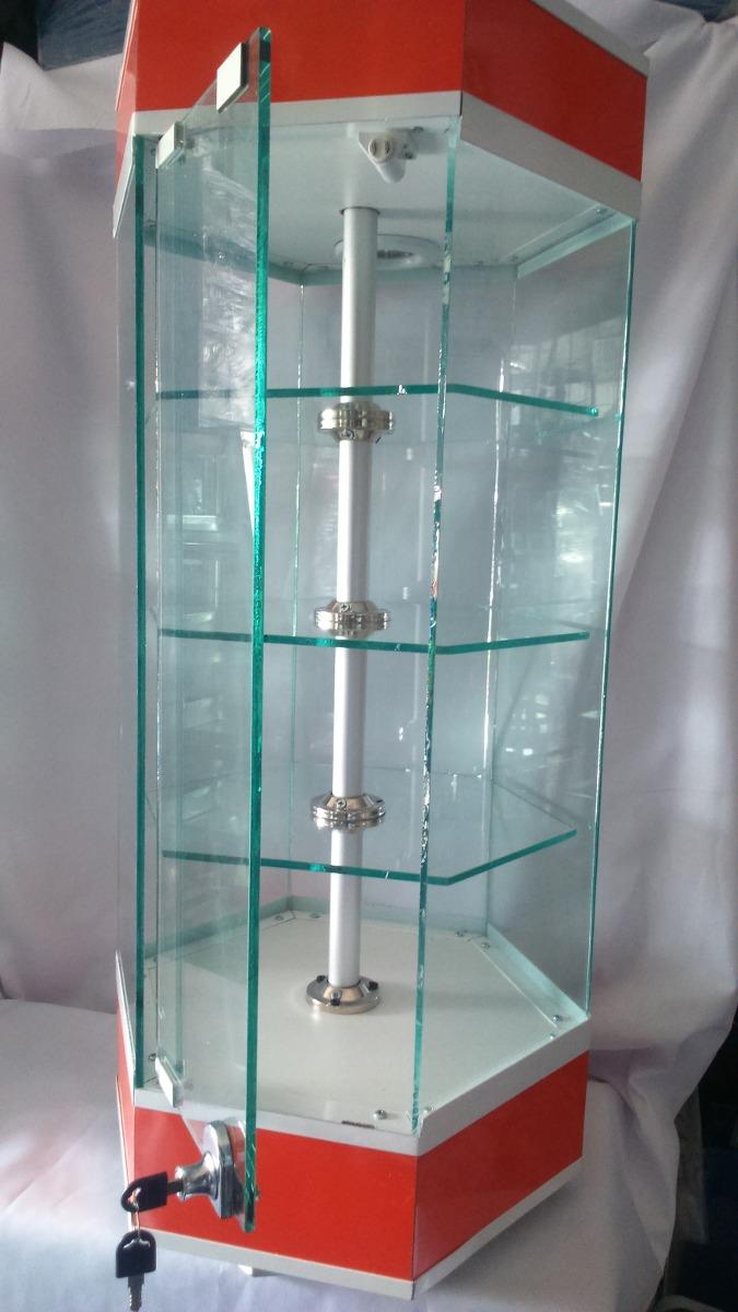 Armario Multiuso Casas Bahia ~ Aparador Hexegonal De Mostrador Exhibidor Vitrinas 85cm Alto $ 1,800 00 en Mercado Libre