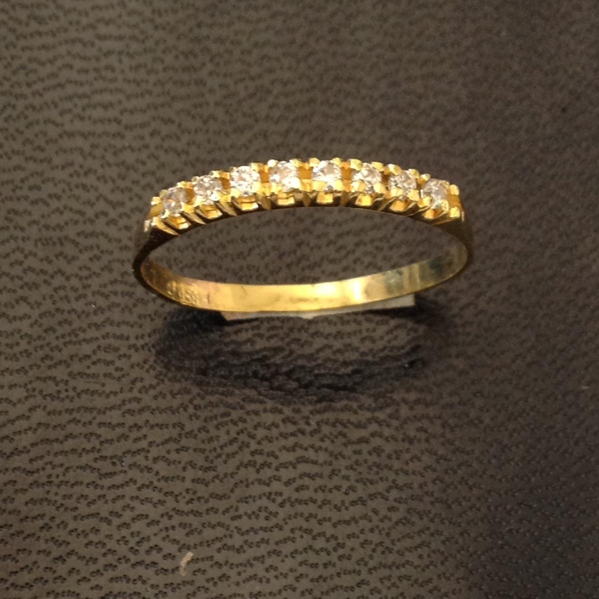 0c619410a7803 aparador meia aliança noivado ouro 18 k zirconia 03-123. Carregando zoom.