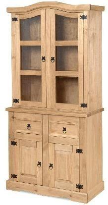 aparador , modular , cristalero en madera de pino