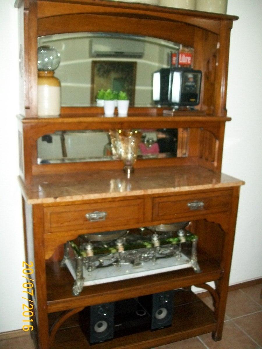 Aparador mueble de roble y marmol antiguo for Muebles maldonado precios