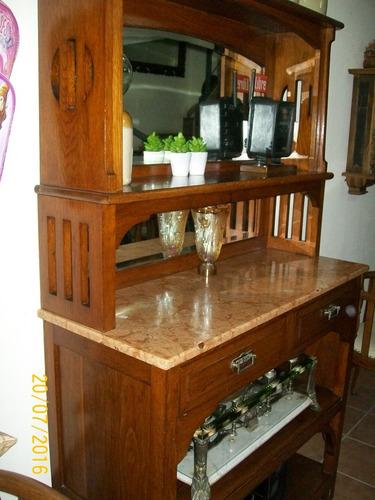 Mueble De Roble Y Marmol!!! Antiguo!!!  $ 21500,00 en Mercado Libre