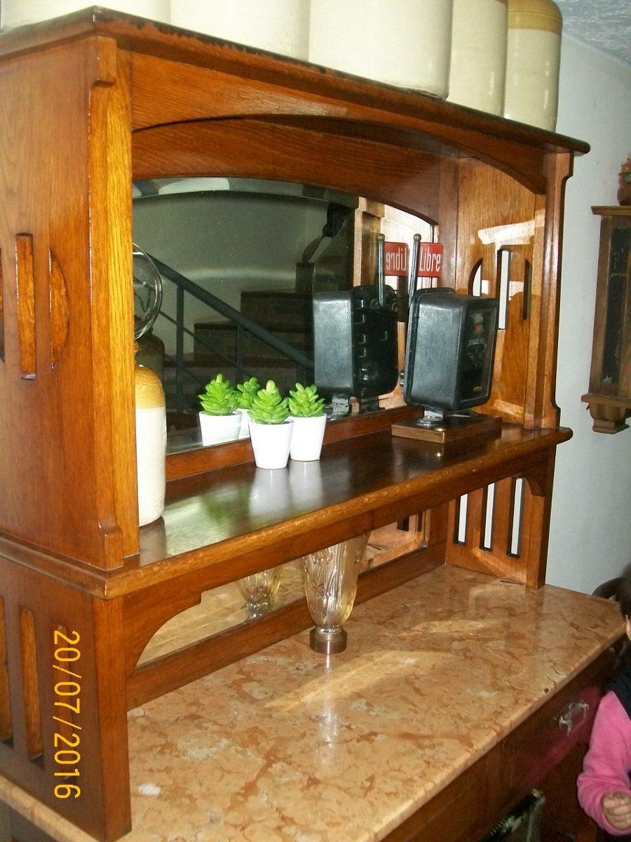 Artesanato Em Madeira Frases ~ Aparador Mueble De Roble Y Marmol!!! Antiguo!!! $ 21 500,00 en Mercado Libre