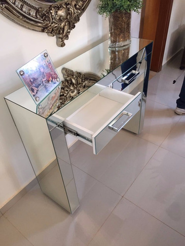 aparador / penteadeira de espelho lapidado 70x30x85