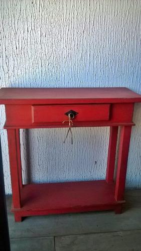 Aparador Tok Stok Preto ~ Aparador Pintado Vermelho Em Madeira 80cm Com Gaveta R$ 529,90 em Mercado Livre