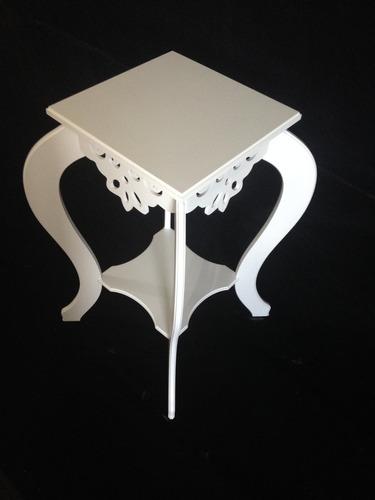 Armario Limpieza Ikea ~ Aparador Quadrado Vazado Com Revisteiro Mdf Pintura Branca!! R$ 145,00 em Mercado Livre