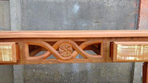 aparador rústico feito de madeira de demolição peroba rosa