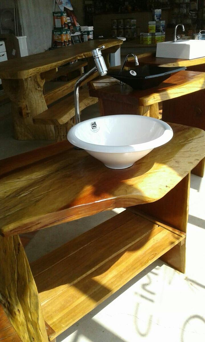 Adesivo De Chão Que Imita Madeira ~ Aparador Rústico Para Banheiro, Pia Ou Balc u00e3o R$ 899,00 em Mercado Livre