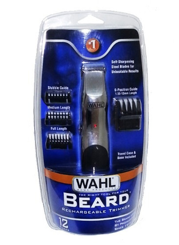 aparador wahl de barba, bigode e costeletas bivolt + nf