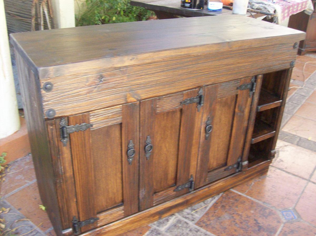 Aparador bajo mesada madera maciza rustico - Muebles de cocina madera maciza ...