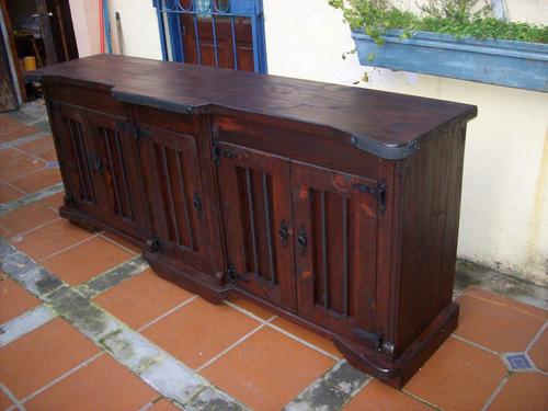aparador/bargueño madera maciza rustico artesanal.