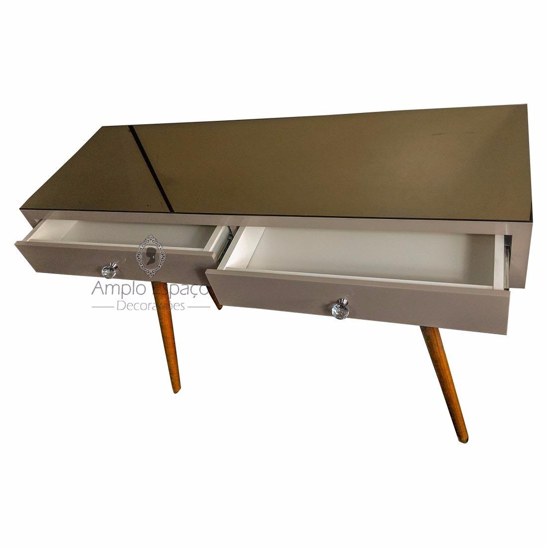 Artesanato De Madeira Paletes ~ Aparador rack Laqueado Com Tampo Em Espelho Bronze R$ 1 299,00 em Mercado Livre