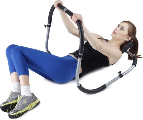aparelho abdominal portátil dobrável em aço exercício liveup