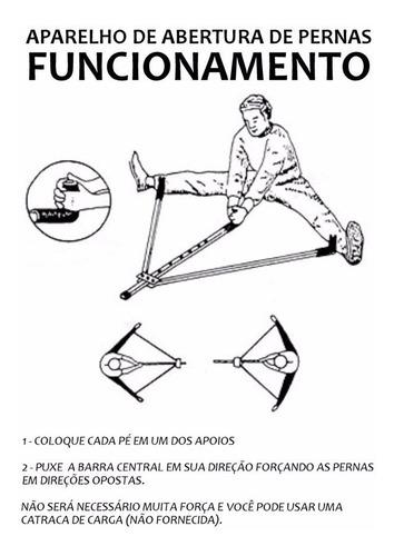 aparelho abertura pernas aumento flexibilidade preto taekwondo muay thai boxe jiu jitsu karatê fisioterapia kung fu mma
