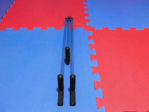 aparelho abertura pernas e aumento de flexibilidade (azul) kung fu capoeira kickboxing boxe kick taekwondo mma ufc