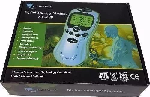 aparelho acumputura fisioterapia massagem 4 eletrodos