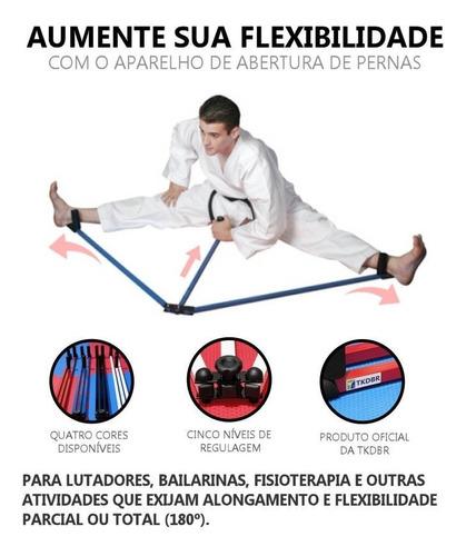 aparelho alongamento abertura pernas tkd karatê muay thai