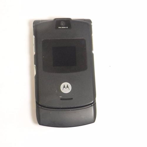 aparelho celular motorola v3 preto - defeito