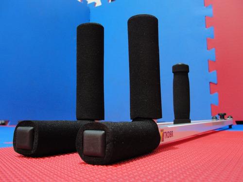 aparelho de abertura de pernas e aumento de flexibilidade (branco) espacate para tkd capoeira kickboxing boxe mma ufc