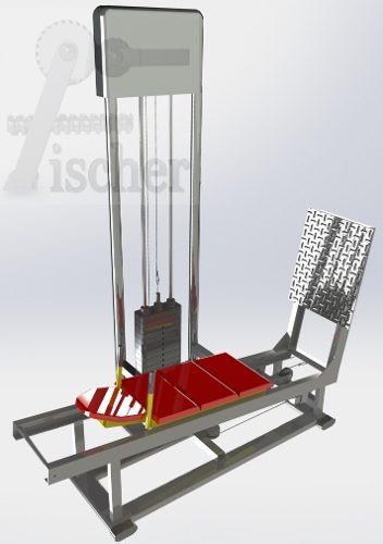 aparelho de academia ( leg press horizontal ) apenas projeto