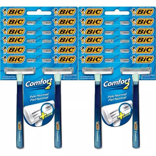 aparelho de barbear bic comfort 2 azul 5 x 24