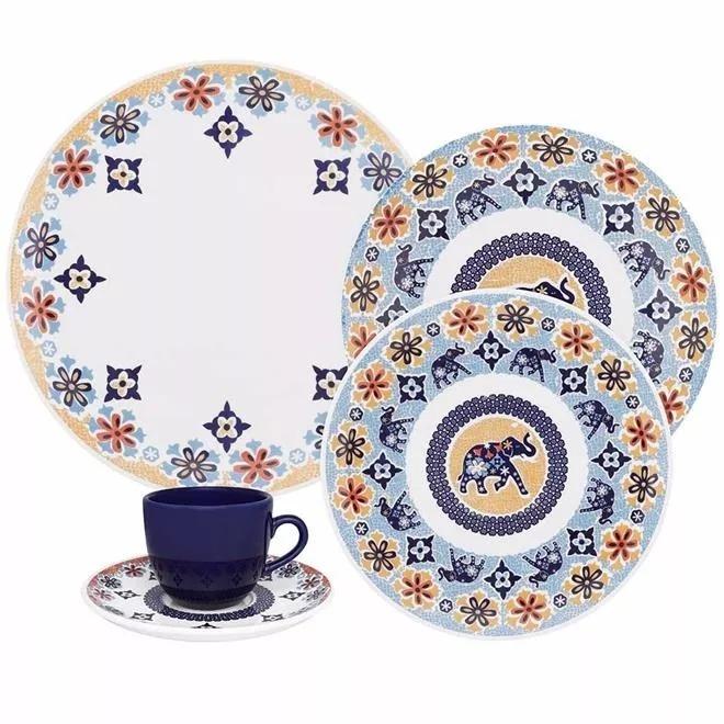 Aparelho De Jantar 30 Peça Porcelana Coup Shanti Oxford Luxo R
