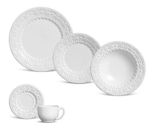 aparelho de jantar branco porto brasil esparta 20 peças