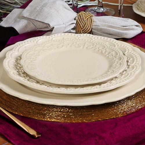 aparelho de jantar passion porto brasil cerâmica crú 42peças
