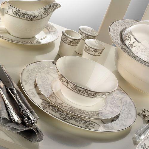 Aparelho De Jantar Porcelana Ar 30011 Prestige Bone 84 Pe R