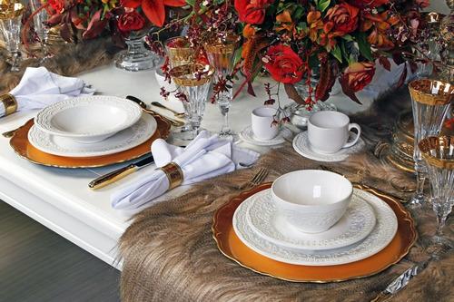 aparelho de jantar porto brasil madeleine branco 42 peças
