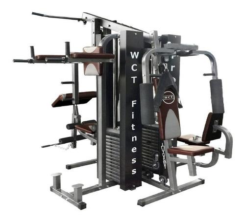 aparelho de musculação completa wct fitness 204kg de anilhas