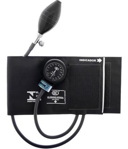 aparelho de pressão esfigmomanômetro preto bic ap0336