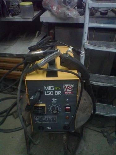 aparelho de solda mig sem gas v8 brasil 150 amp