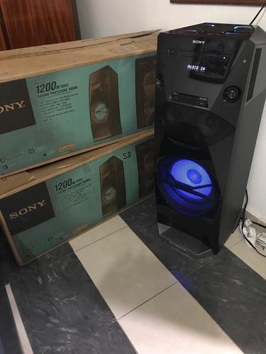 aparelho de som miny system sony mhc-v5 1200wrms bluetooth