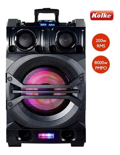 aparelho de som portátil dj mixer pro kpg-103 - 200w rms/blu