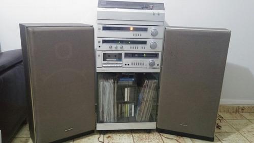 aparelho de som sharp modulado c/ rack-raridade p/colecionad