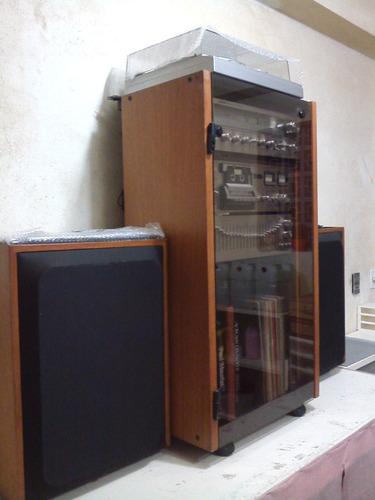 aparelho de som vintage completo