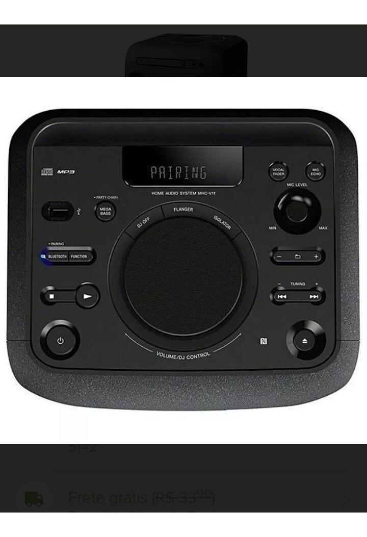 Aparelho De Son Sonic Mhc V11 Bluetooth Wifi Nfc Cd Mp3
