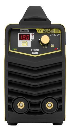aparelho inversora de solda 180a bivolt portátil tork ie7180