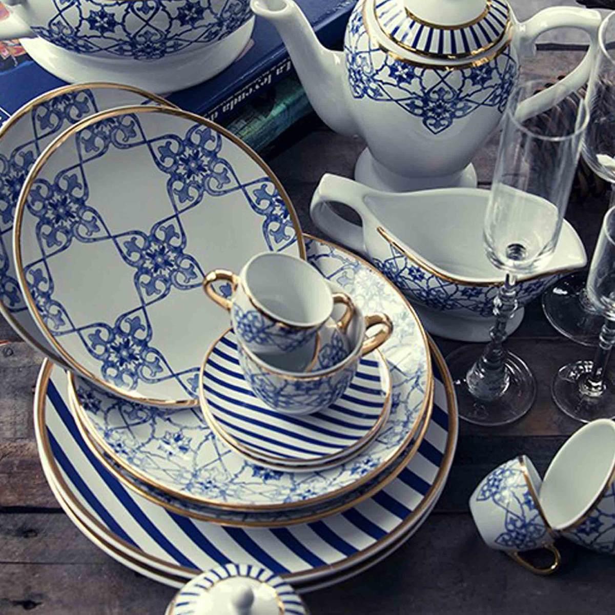 Aparelho De Jantar Lusitana Oxford Porcelana 42 Peças R 149990