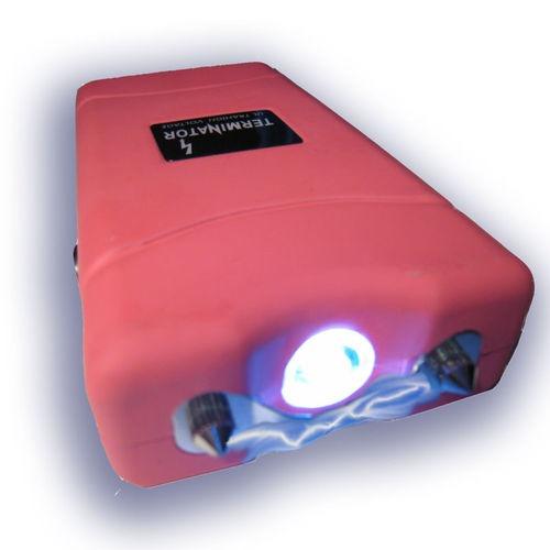 aparelho lanterna & choque recarregável ( rosa )